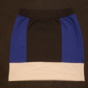 Mini multi-color skirt